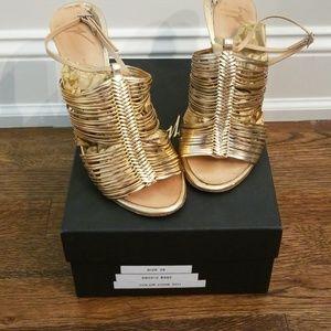 Giuseppe Zanotti Gold Strappy Heels